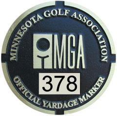 MGA Yardage Marker Insert - Reverse Engraved (Pumice/Black)