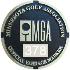 MGA Yardage Marker Insert - Reverse Engraved (Pumice/White)