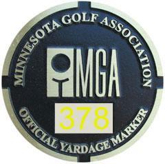 MGA Yardage Marker Insert - Reverse Engraved (Pumice/Gold)