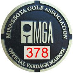 MGA Yardage Marker Insert - Reverse Engraved (Pumice/Red)