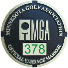 MGA Yardage Marker Insert - Reverse Engraved (Pumice/Green)