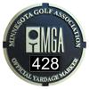 MGA Yardage Marker Insert - Front Engraved (Black/White)