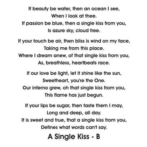 short kiss poem